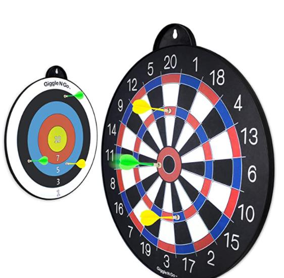Giggle N Go Reversible Magnetic Dart Board