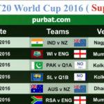 T20 WorldCup 2016 Schedule - Complete Fixtures