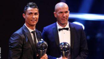 Cristiano Ronaldo beats Lionel Messi to win Fifa best male player award
