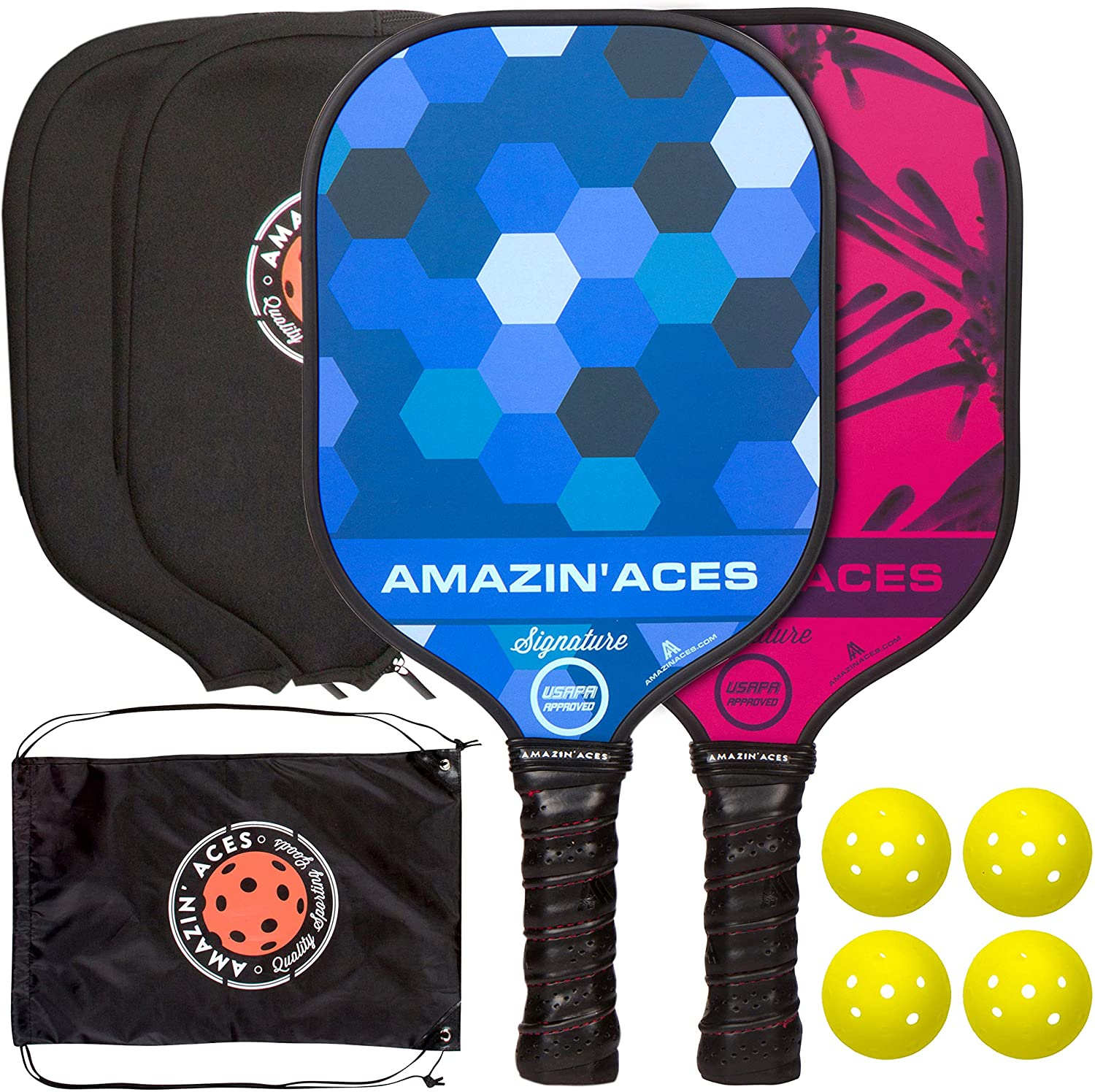 Amazin' Aces Signature Pickleball Paddle Set