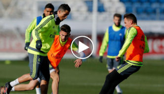 Cristiano Ronaldo Incredible Goal at First Training with Zinedine Zidane [Video]