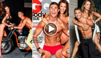 Cristiano Ronaldo And Supermodel Alessandra Ambrosio pose topless for GQ [Video]