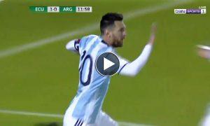 Messi Hattrick vs Ecuador [All 3 Goals Video] HD